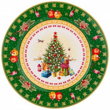 Тарелка подстановочная christmas collection, диаметр 26 см. (кор=18шт.)