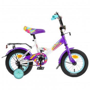 Велосипед 12 graffiti classic rus, 2019, цвет белый/фиолетовый