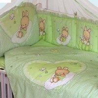 Комплект в кроватку степашка (120х60), 7 предметов: бампер,балдахин,одеяло