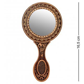 Bst-207 зеркало с ручкой (береста)