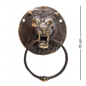 24-131 дверной молоток лев бронза (о.бали)