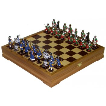 Rts-50.d шахматы исторические с фигурами из олова покрашенны
