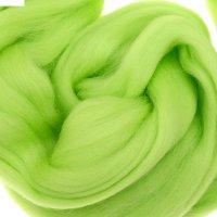 Шерсть для валяния полутонкая (3011, салат)
