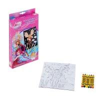 Набор для раскрашивания магнитного листа волшебные наряды winx флора 2153-