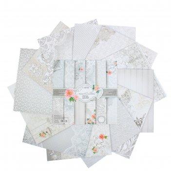 Набор бумаги для скрапбукинга счастливый день, 12 листов 29,5 х 29,5 см
