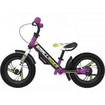 Алюминевый беговел с 2-мя тормозами small rider motors (eva) (фиолетовый)