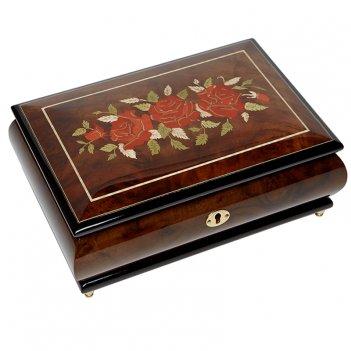 Шкатулка для ювелирных украшений музыкальная, арт. aw-02-071