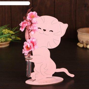 Декоративная мини-ваза котенок  21,5 х 15,5 х 6,0 с