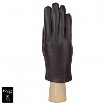 Перчатки мужские, натуральная кожа (размер 8.5) коричневый