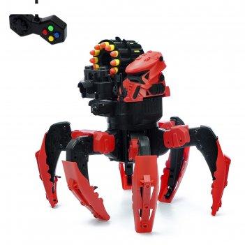 Робот радиоуправляемый «галактический паук», стреляет мягкими пулями, цвет