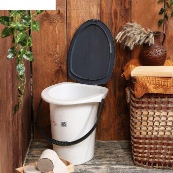 Ведро-туалет 17 л мраморный