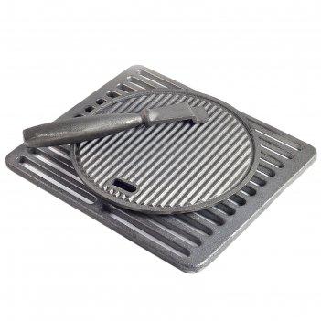 Набор: решётка- гриль 34x30 см + сковорода-гриль 26 см