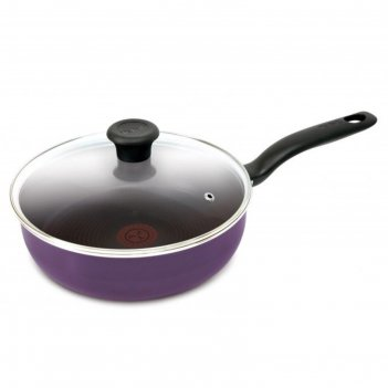Сотейник tefal cook right, чёрная смородина, 24 см, 2.5 л, с крышкой