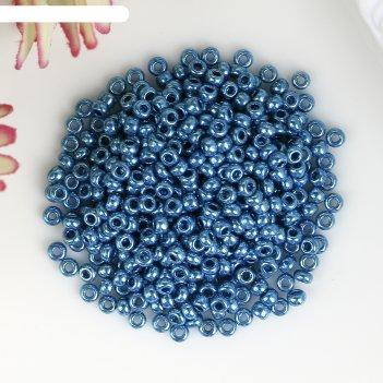 Бисер чехия gamma круглый 6  10/0   5гр  (f652 синий/металлик)