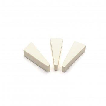 Спонж для макияжа tnl, треугольный, цвет белый 3 шт.
