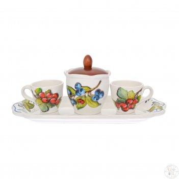 Кофейный сервиз nuova cer лесные ягоды 5 предметов