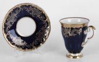 Набор для каппучино ювел синий 801(чашка260мл.+блюдце)