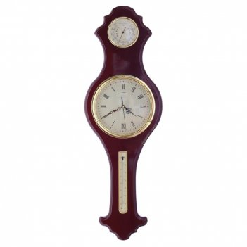 Композиция время с метеостанцией (термометр, гигрометр), l28...