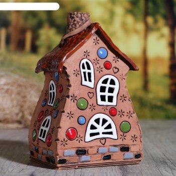 Аромалампа домик «карусель», 14 см, ручная работа, микс