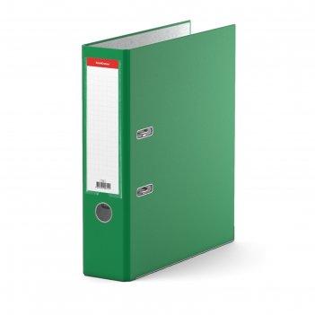 Папка-регистратор а4, 70 мм, «бизнес», разборный, зелёный, пластиковый кар