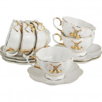 Чайный набор на 6 персон venezia 12 пр. 200 мл (кор=6набор.)