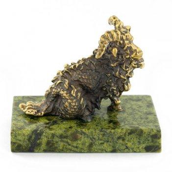 Статуэтка знак зодиака козерог бронза змеевик