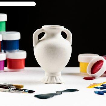 Фигурка-раскраска вазочка с ручкой, керамика