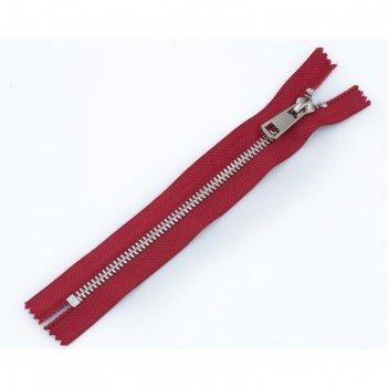 Молния для одежды, неразъёмная, №5тт, 18 см, цвет красный