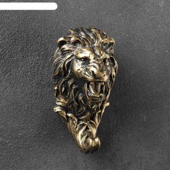 Крючок фигурный лев бронза 6х6х12см