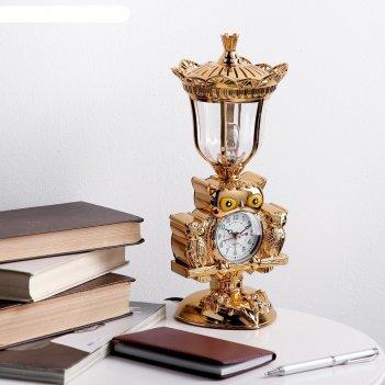 Часы-светильник с будильником сова, от 220v