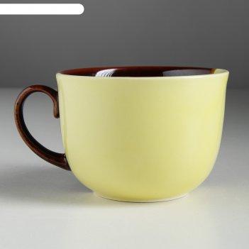 Бульонница аппетитка жёлто-коричневая, 0,5 л