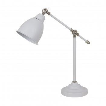 Настольная лампа cruz 1x60w e27 белый, никель
