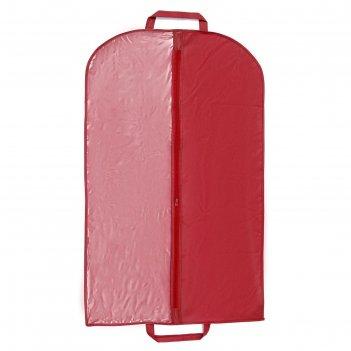 Чехол для одежды 60x100 см, спанбонд, цвет бордо