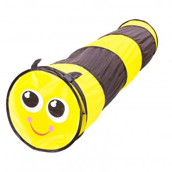 Детский туннель пчелка, цвет черно-желтый