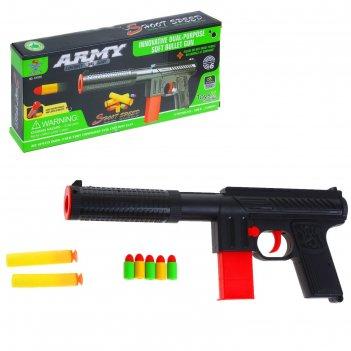 Пистолет крутой стрелок, стреляет мягкими пулями
