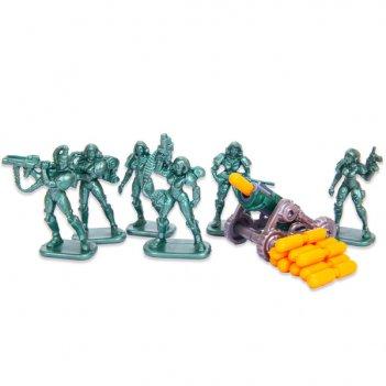 Настольная игра бронепехота №3, набор солдатиков с пушкой