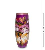 Vz-547 ваза стеклянная жостово h-300 (бочка)