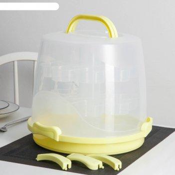 Контейнер для кондитерских изделий 32x24 см, 24 ячейки, переносной, цвет м