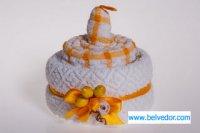 Набор кухонных полотенец торт желтые