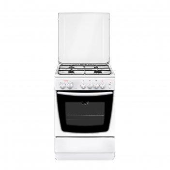 Плита газовая gefest 1200-с5, 4 конфорки, 65 л, газовая духовка, белая