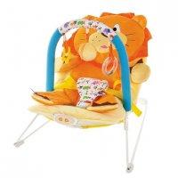 """Кресло-качалка """"львёнок"""" с 3-мя развивающими игрушками, вибрацие"""
