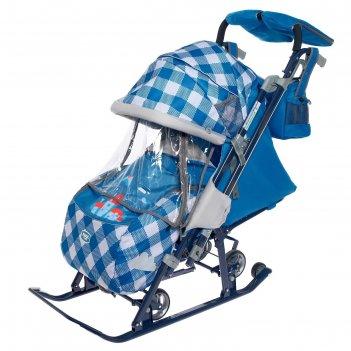 Санки-коляска «ника детям 7-4», капри в клетку