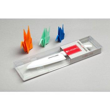 Нож кухонный сантоку 145 мм, циркониевая керамика, (белый) samura fusion