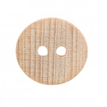 Пуговица деревянная, 2 прокола, 25 мм