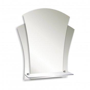 Зеркало «лотос», настенное, с полочкой, 48x55 см