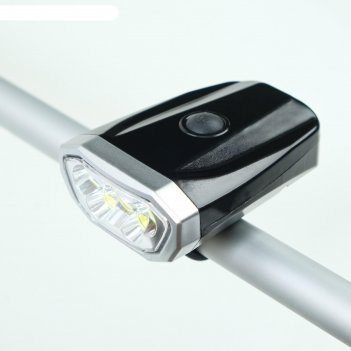 Фонарь велосипедный аккумуляторный 1 вт, 600 мач, 1+5 led, зарядка usb, 4
