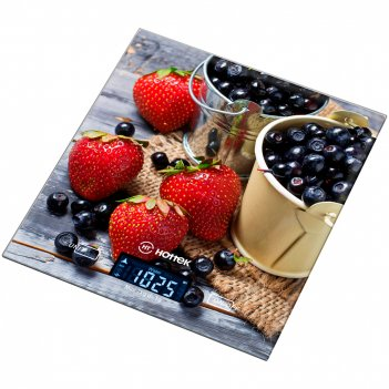 Весы кухонные ягоды hottek ht-962-027 18*20см, м...