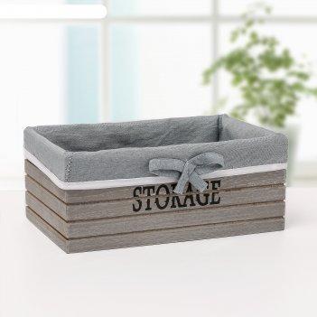 Короб для хранения storage 24х16х10 см, средний, цвет серый