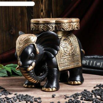 Статуэтка слон №5 большой 29 х 25 см чёрный