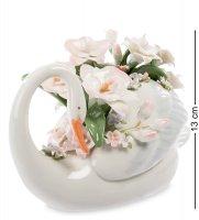 Cms-10/32 фигурка лебедь с цветами (pavone)